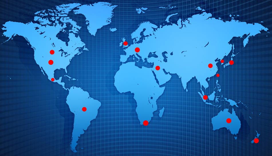 A world map of where to buy Alclad 2 finishes